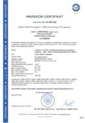 Certifikát – Lineární a rotační jednotky (EUROSTARS)