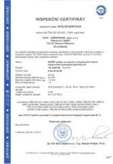 Certifikát – Lineární integrované hydraulické jednotky (IHJ)
